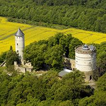 Die Burg Plesse bei Göttingen
