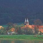 Blick auf Bursfelde an der Weser