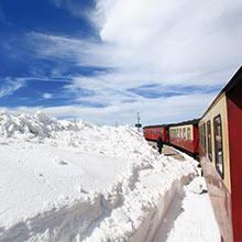 Brockenbahn am Brocken im Harz nahe Göttingen