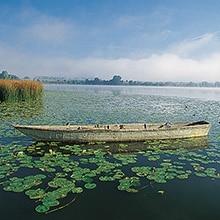 Der Seeburger See in der Nähe von Göttingen