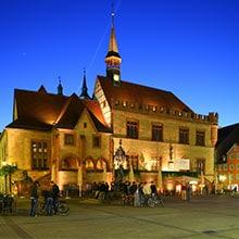 Altes Rathaus in der Innenstadt von Göttingen