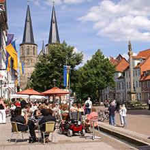 Innenstadt von Duderstadt im Eichsfeld nahe Göttingen